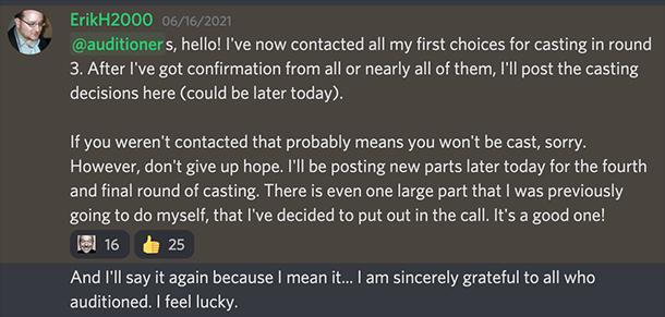 confirmingCasting